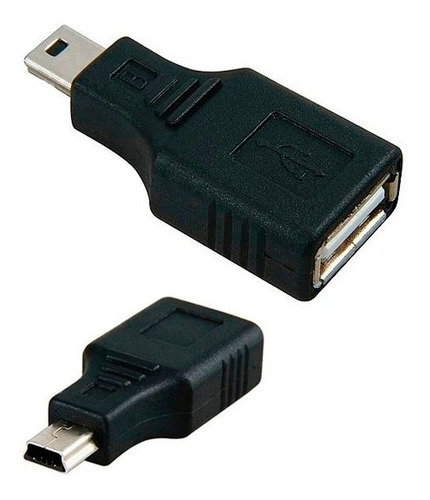 Adaptador Conversor Otg Mini Usb 5 Pin Macho A Usb Hembra ®