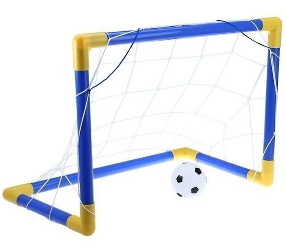 Set Cancha De Futbol Soccer Niños Juguete Pelota