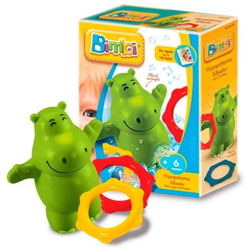 Hipopotamo Y Dos Anillos Para Jugar En La Bañera Bimbi
