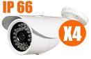 Kit 4 Cameras, Cabo 50mts , Fontes E Conectores V4c50m