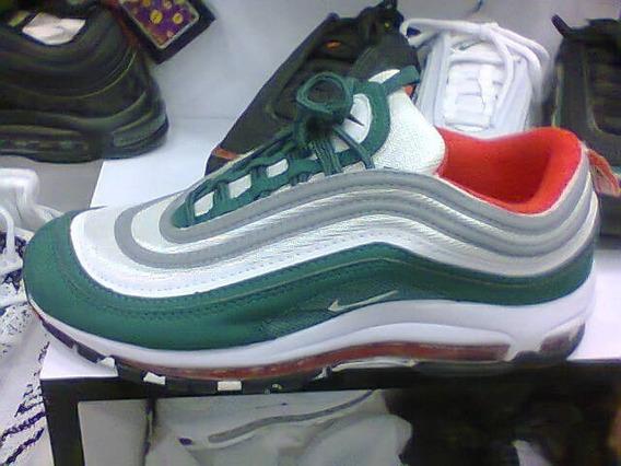 Tenis Nike Air Max 97 Verde E Branco Nº38 Ao 43 Original