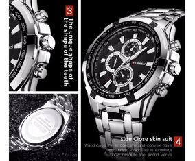 Relógio Militar Curren Marca De Luxo Dos Homens