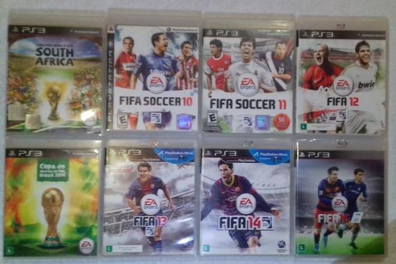 Coleção 8 Jogos De Futebol Fifa Para Ps3 ** Leia