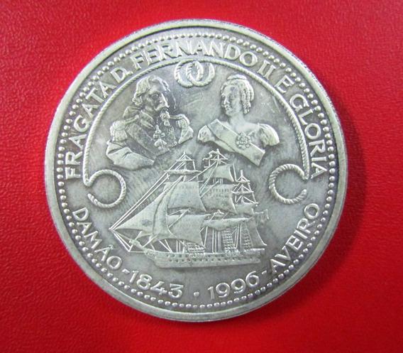 Portugal Moneda 1000 Escudos Barco Fragata 1996 Plata