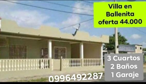 Venta De Bonita Villa En Ballenita