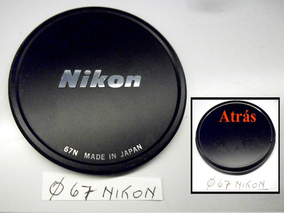 Nikon - Tampa Clássica Antiga, Metálica, Rosca 67mm &