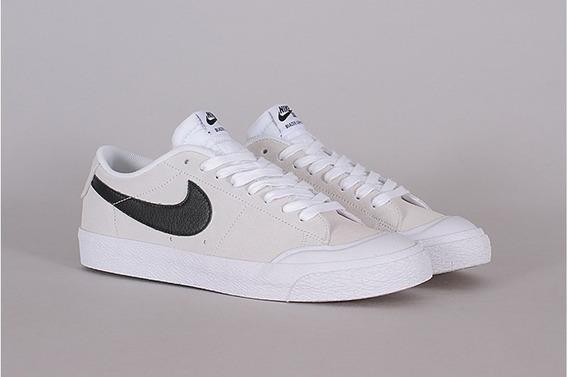 Tênis Nike Blazer Low 864348-101 Branco Camurça Original