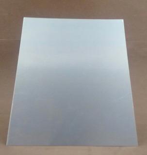Chapa Alumínio Lisa 20 X 20 Cm-1 Mm Espessura - Kit 50 Peças