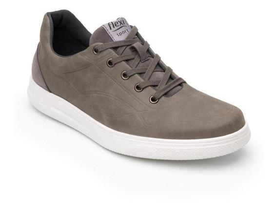 Sneaker Urbano Flexi Hombre 401206 Gris Cómodo