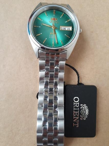 Relógio Orient Automatico Classico Aço Masculino Verde