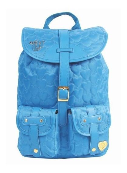 Mochila Capricho Love 2 Bolsos - Azul