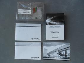 Manual Do Proprietário Toyota Corolla Xei 2015 Original Kit
