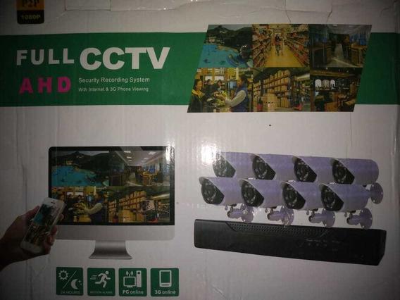 Kit Camara De Seguridad X 8 Full Ahd Cctv Osr
