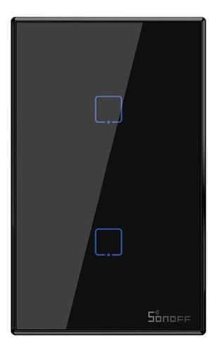 Imagen 1 de 10 de Sonoff T3us2c-tx 2 Gang Smart Wifi Interruptor De Luz De Par