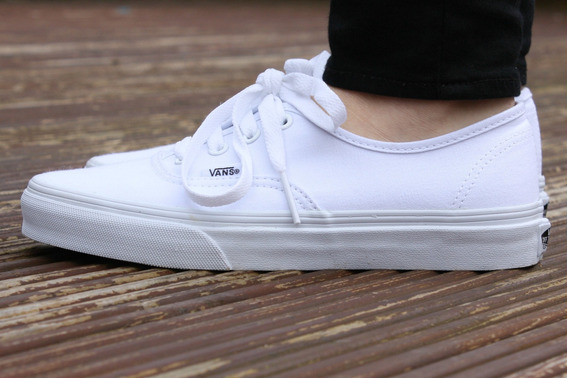Zapatillas Vans Blanco Originales Authentic Full 50 Vans