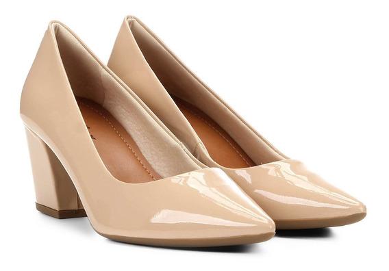 Sapato Feminino Scarpin Salto Alto Anabela Full