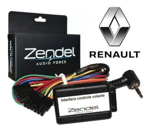 Interface De Controle Volante Zendel Renault Zd-rn V3.0 Slim