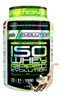 Proteína Iso Whey Ripped Star Nutrition 1 Kg Con Quemador