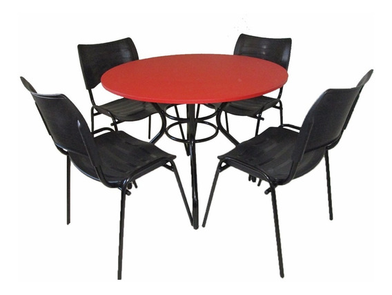 Mesas E Cadeiras P/ Buffet Cafeteria Lanchonete Bar
