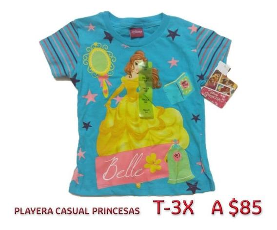 Playera Casual Princesas Disney Original