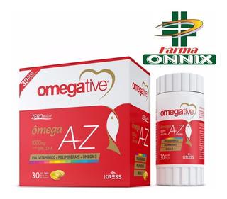 Omegative Az - Vitaminas De A-z Com Omega 3 - 30 Cápsulas