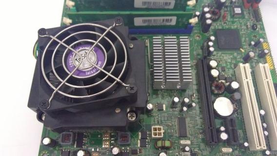 Kit Placa Mãe 775 Lenovo 3000 45r2453 Ddr2 1g + Dual Core