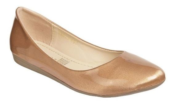 Zapato Mejillitas Flats, Piso Color Circon Charol 434