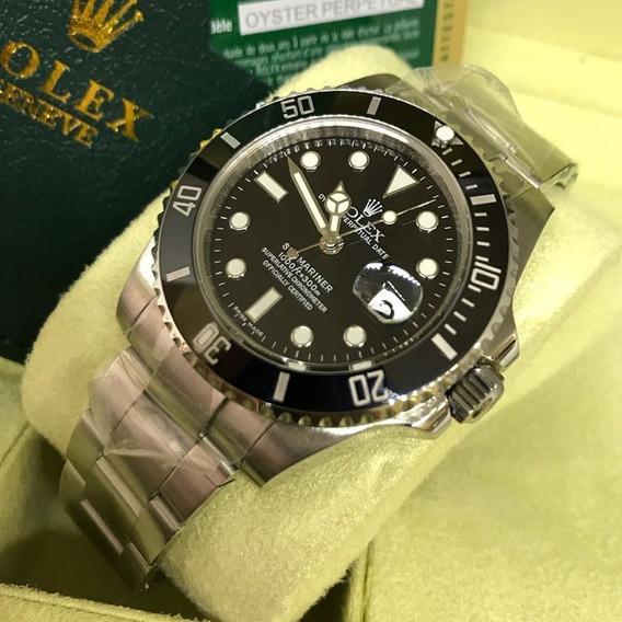 Relógio Rolex Submariner Preto Aaa+ Vidro Safira + Caixa