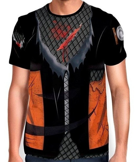 Camisas Camisetas Animes Uniforme 3d - Naruto Guerra Ninja