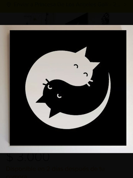 Gatos/perros Pinturas Ying Yang Cuadros Hechos A Mano
