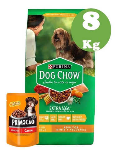 Dog Chow Adulto Raza Pequeña  8kg + Snack + Envio