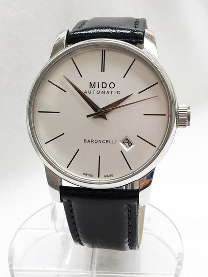 Relógio Nível Omega Mido Automático Baroncelli Novíssimo Big