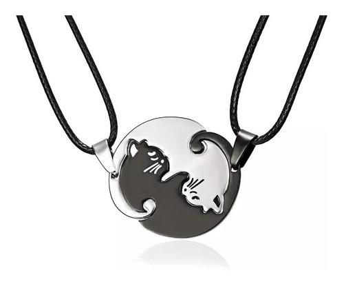 Collar Yin Yang Gatitos Par De Collares + Cajita De Regalo!