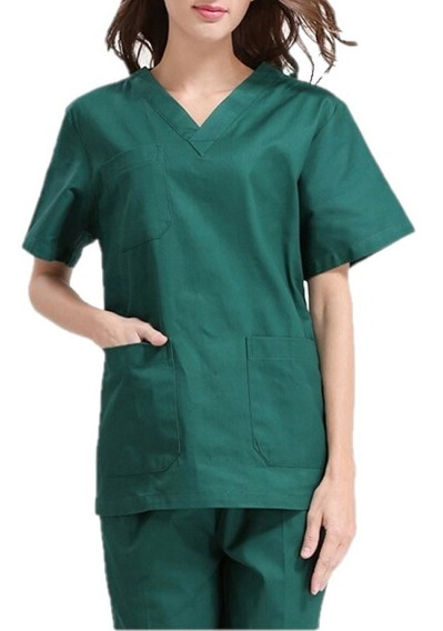 Pack 3 Uniforme Quirúrgico Pijama Scrub De Mujer (3 Juegos)