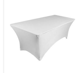 Mantel Blanco, Tipo Lounge Para Mesa 2.40 Mts Plegable