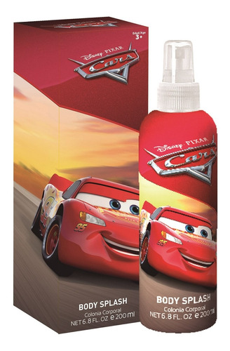 Perfume Infantil Cars Disney Body Splash 200ml
