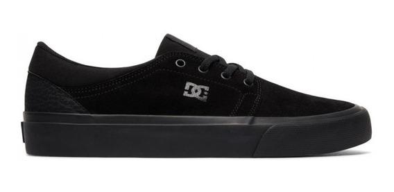 Zapatillas Dc Lifestyle Niño Trase Sd Negro-negro Cli