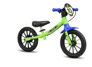 Bicicleta Infantil Aro 12 Balance Bike Verde - Nathor