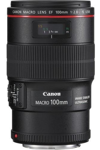 Lente Canon Ef 100mm F/2.8l Macro Is Usm, Lacrada Na Caixa!