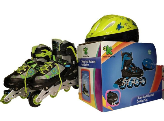 Rollers Con Casco Ajustable Discovery Kids Talle 30-33 Y3322