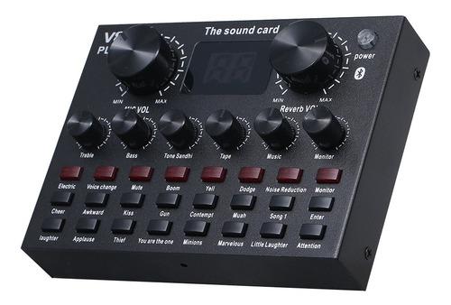 Imagen 1 de 9 de V8 Plus Tarjeta De Sonido En Vivo Con Cable De Audio Cable U