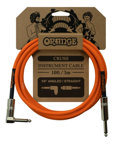 Imagem 1 de 2 de Cabo Orange Crush Instrument Cable (10ft - 3m)