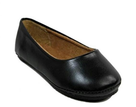 Zapato Flat Balerina Color Negro