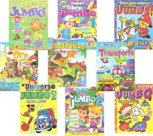 Imagen 1 de 10 de 10 Libros Colorear Iluminar Jumbo Paquete Preescolar Surtido