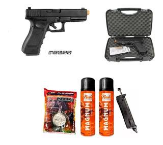 Kit Pistola Airsoft Glock G18 Gbb 6mm Blowback + Acessórios