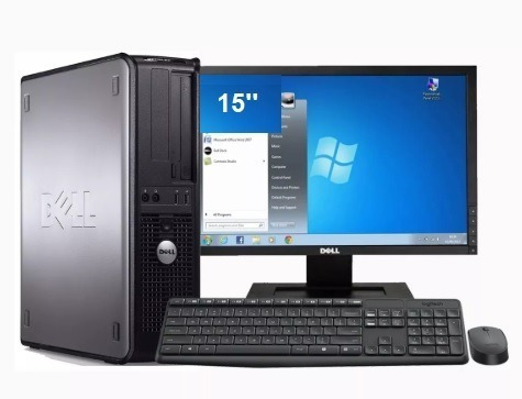 Dell Optplex 360 Core 2 Duo Com Monitor Dell 15