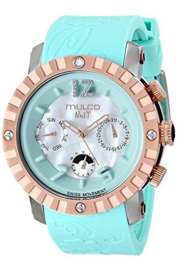 Mulco Mw5-1876-413 Nuit Lace Xl Reloj Azul De Cuarzo Suizo C