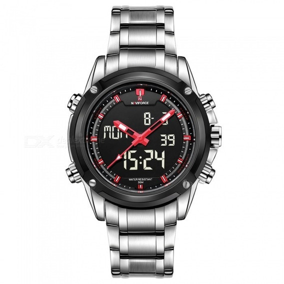 Relógio Masculino Naviforce 9050 Esportivo Aço