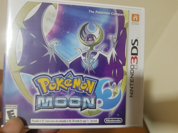 Pokemon Moon Lacrado Nintendo 2ds/3ds Mídia Física