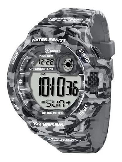 Relógio Pulso X Games Digital Camuflado Cinza - Xmppd288